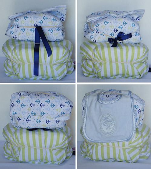 attaching pillow to diaper stroller