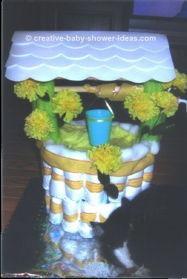 Make Baby Shower Wishing Well http://www.creative-baby-shower-ideas.com/baby-shower-wishing-well.html