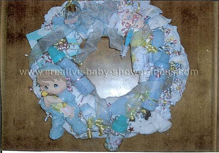 blue baby doll diaper wreath