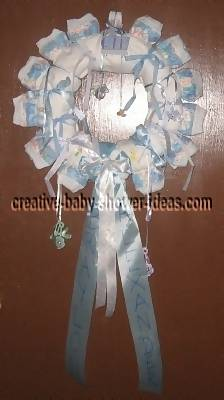 blue boy ribbon diaper wreath