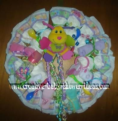 happy bug diaper wreath