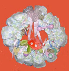 turtle diaper wreath