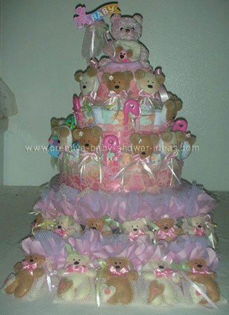 tiny bears diaper cake