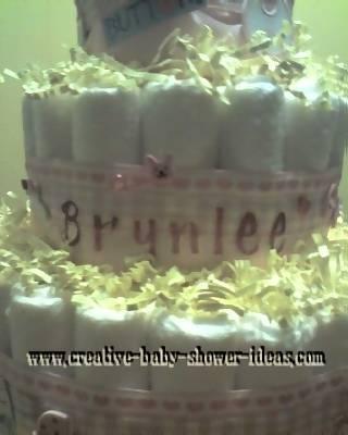doll diaper cake