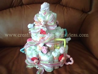 sweet doll diaper baby cake