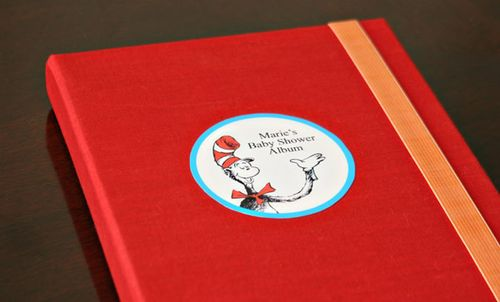 dr seuss baby shower photo album
