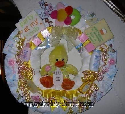 duck diaper wreath