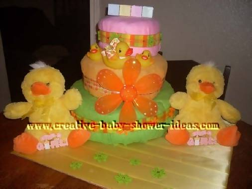 twin ducks diaper cake