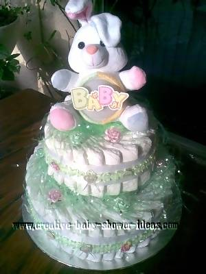 easter cakes pictures. easter bunny diaper cake
