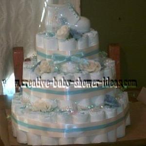 elegant booties diaper cake