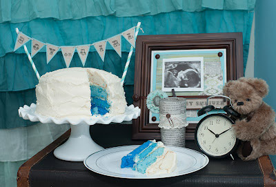 Pin baby gender reveal party cakes on pinterest