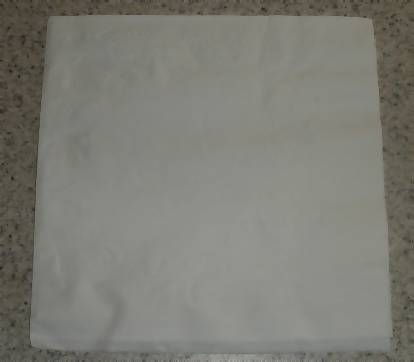 napkin laying flat