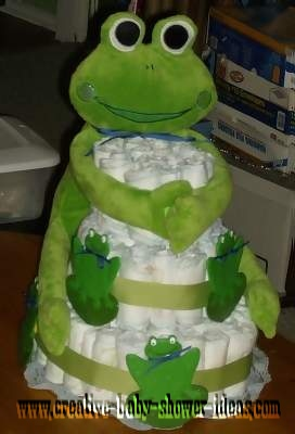 big eyed frog diaper cake