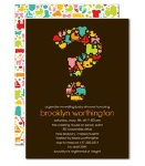 gender reveal question mark invitation