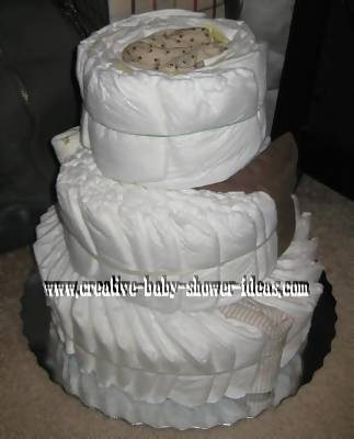boutique swirl diaper cake