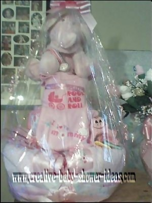 rock and roll elephant diaper cake