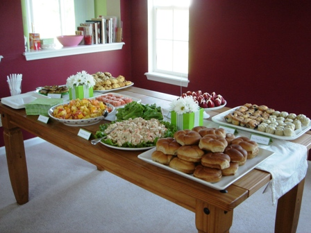 green baby shower food