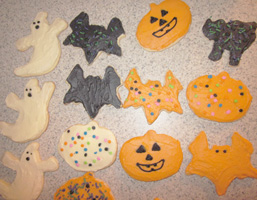 halloween shaped sugar cookies