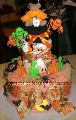 creepy halloween towel cake