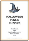 Halloween scavenger hunt puzzles book