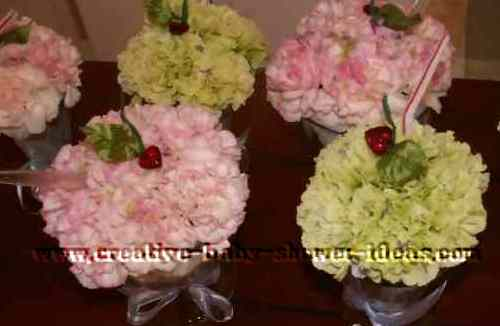 flower ice cream sundaes
