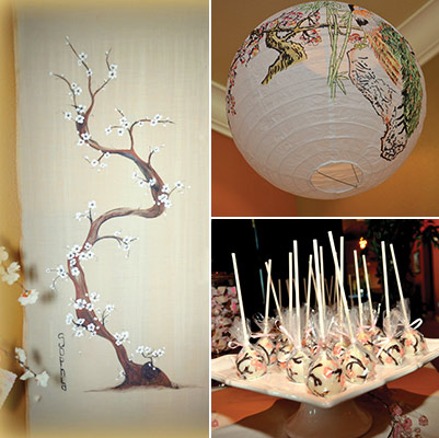 ikebana cherry baby shower