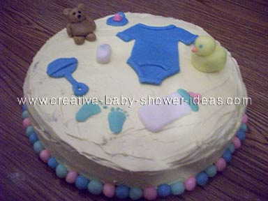 it's a boy! baby clothes cake
