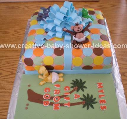jungle baby shower babies cake