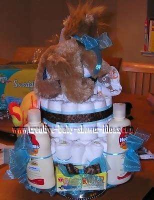 back of lion diaper cake