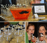 little man baby shower theme with mustaches and punch