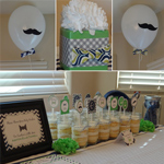 decorations at a little man baby shower