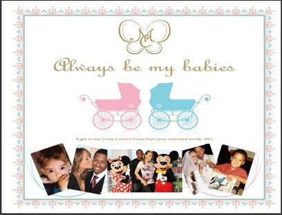 mariah carey baby shower thank you card