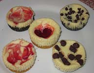 different types of mini cheesecakes