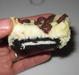 chocolate chip oreo mini cheesecake