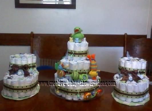 diaper bootie cake