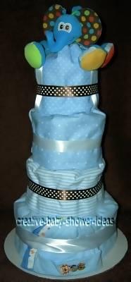 mod elephant diaper cake