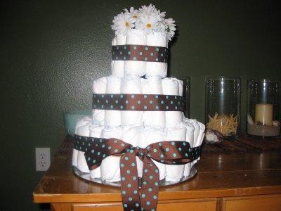 mod mom diaper cake