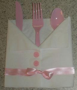 pink dress baby napkin