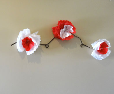 How to make paper flowers out of napkins red and white napkin paper flowers mightylinksfo