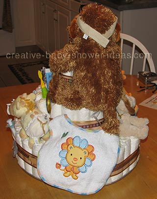 back of gorilla nappy cake