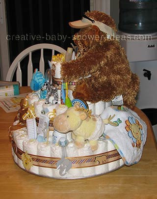 other side of gorilla nappy cake