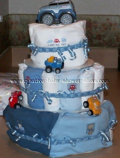 boy 4 wheeler diaper cake