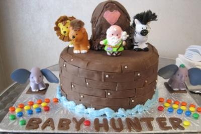 Noah's Ark Cake Baby Shower
