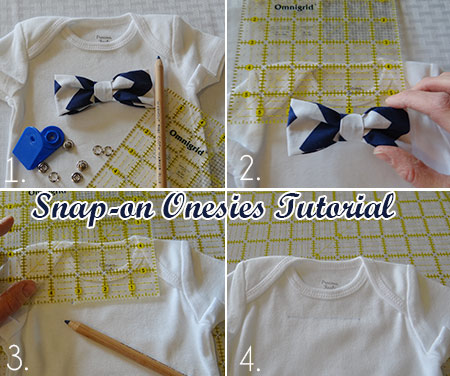 Cute Sewing Tutorials for a skirt and bow tie onesie for