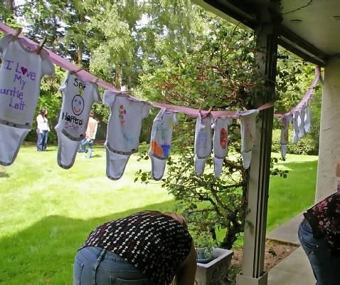 Baby Shower Onesie Decorations