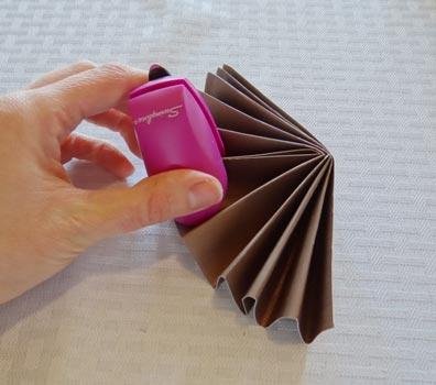 stapling paper rosette together