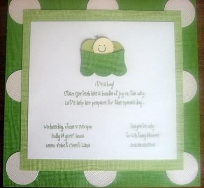 pea in a pod baby shower invitation