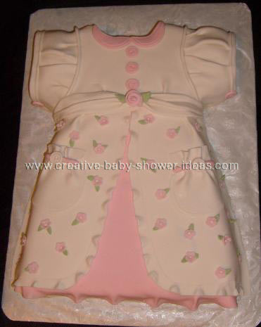 pink floral baby dress cake