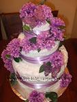 purple butterfly towel cake