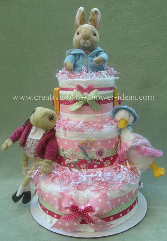 mother goose story diaper cake